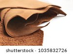 real leather fabric sheet... | Shutterstock . vector #1035832726