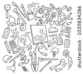 painting element doodle | Shutterstock .eps vector #1035834286
