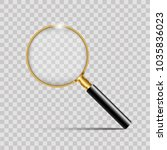 realistic gold magnifier on... | Shutterstock .eps vector #1035836023