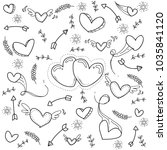 heart love doodle | Shutterstock .eps vector #1035841120