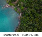 tropical island from aerial... | Shutterstock . vector #1035847888