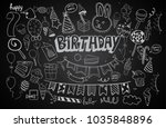 happy birthday background.... | Shutterstock .eps vector #1035848896