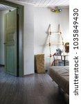 cozy small multifunctional room ... | Shutterstock . vector #1035849430