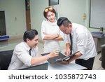 business team meeting... | Shutterstock . vector #1035872743
