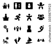 solid vector icon set  ... | Shutterstock .eps vector #1035875923
