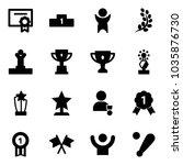 solid vector icon set  ... | Shutterstock .eps vector #1035876730