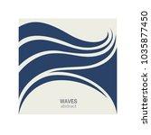 water wave logo abstract design.... | Shutterstock .eps vector #1035877450