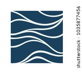 water wave logo abstract design.... | Shutterstock .eps vector #1035877456