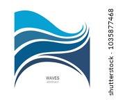water wave logo abstract design.... | Shutterstock .eps vector #1035877468