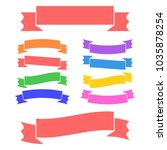 set of colored isolated banner... | Shutterstock .eps vector #1035878254