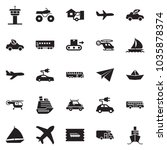 solid black vector icon set  ... | Shutterstock .eps vector #1035878374
