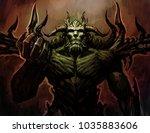illustration of a demon  devil. ... | Shutterstock . vector #1035883606