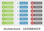 download button vector set on...