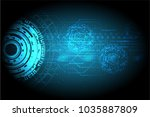 abstract future technology... | Shutterstock .eps vector #1035887809