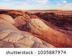 sandstone formations in utah ... | Shutterstock . vector #1035887974