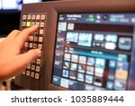 touch screen monitor of... | Shutterstock . vector #1035889444