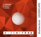 earth symbol   logo design   Shutterstock .eps vector #1035891490