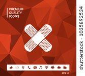 cross adhesive bandage  medical ... | Shutterstock .eps vector #1035892534