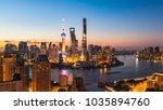 shanghai city buildings night... | Shutterstock . vector #1035894760
