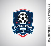 soccer football badge logo... | Shutterstock .eps vector #1035900373