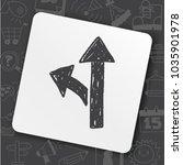 road sign doodle | Shutterstock .eps vector #1035901978