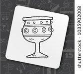 grail holy doodle | Shutterstock .eps vector #1035902008