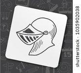 knight helmet doodle | Shutterstock .eps vector #1035902038