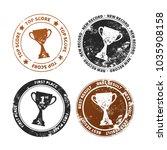 set of retro stamp imprints... | Shutterstock .eps vector #1035908158