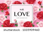 happy mother's day greetings... | Shutterstock .eps vector #1035909460