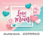 happy mother's day greetings... | Shutterstock .eps vector #1035909610