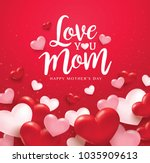 happy mother's day greetings... | Shutterstock .eps vector #1035909613