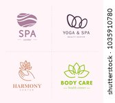 vector collection of yoga ... | Shutterstock .eps vector #1035910780