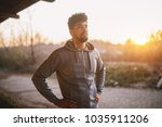 portrait of focused motivated... | Shutterstock . vector #1035911206