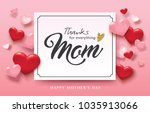 happy mother's day greeting... | Shutterstock .eps vector #1035913066