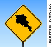 armenia map road sign. square... | Shutterstock .eps vector #1035918520