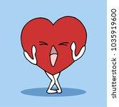 shy  surprised heart symbol... | Shutterstock .eps vector #1035919600