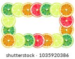 grapefruit  orange  lime and... | Shutterstock . vector #1035920386
