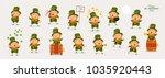 leprechaun  patricks day  great ... | Shutterstock .eps vector #1035920443