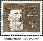 germany   circa 1970  stamp... | Shutterstock . vector #103592099