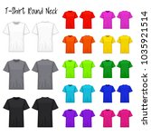 t shirt round neck color... | Shutterstock .eps vector #1035921514