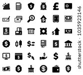 flat vector icon set   bank... | Shutterstock .eps vector #1035923146