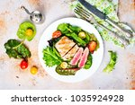 salad with fried tuna  fresh...   Shutterstock . vector #1035924928