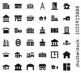 flat vector icon set   school... | Shutterstock .eps vector #1035925888