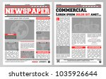 design of daily newspaper... | Shutterstock .eps vector #1035926644