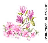 elegant card with spring...   Shutterstock . vector #1035931384