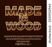 vector luxury golden label made ... | Shutterstock .eps vector #1035933964