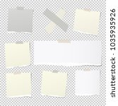 pieces of torn white note ...   Shutterstock .eps vector #1035935926