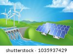 renewable energy or power... | Shutterstock . vector #1035937429