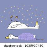sleepy duck  cute illustration  ...   Shutterstock .eps vector #1035937480