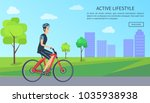 active lifestyle  web page with ... | Shutterstock .eps vector #1035938938
